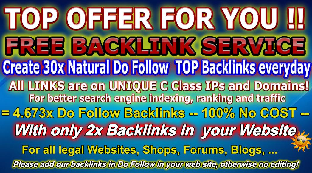 ii❶ii Backlink Generator - Free Backlinks